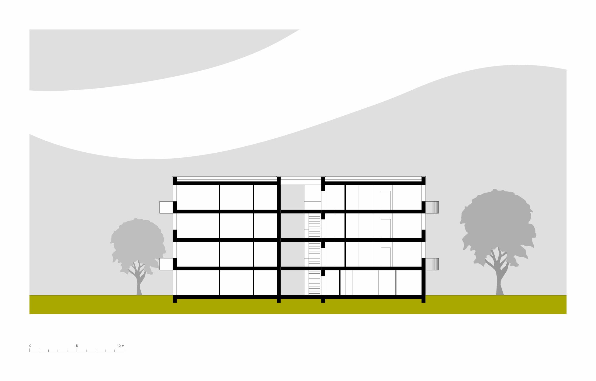 Oberlicht schnitt  Schulerweiterung Schule am Ilmer Barg – Bosse Westphal Schäffer